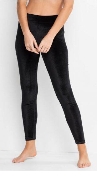 Női bársony leggings
