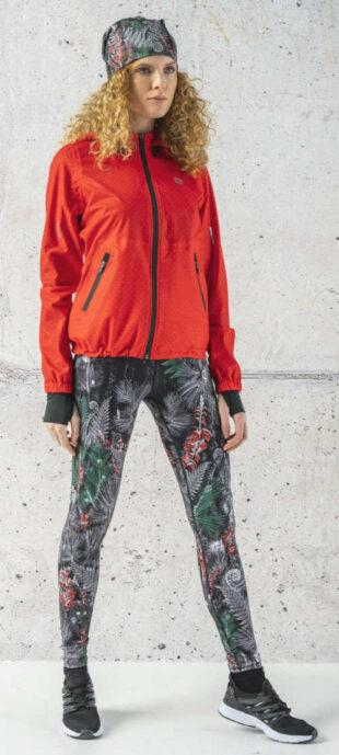 Szigetelt, magas derekú leggings a hideg időjárás sportolásához