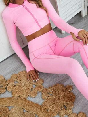 Rózsaszín jóga trikó