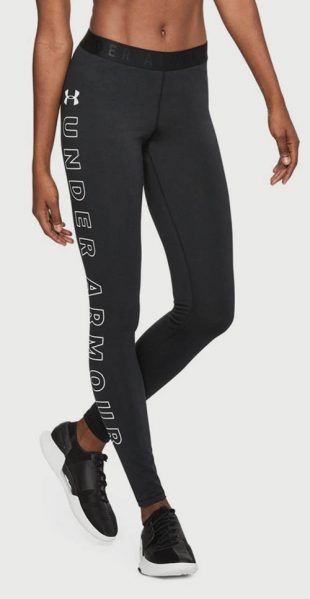 Fekete Under Armour leggings fehér felirattal