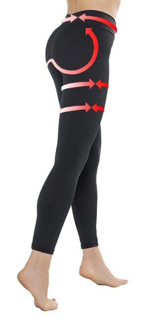 Karcsúsító push-up leggings anti-cellulit hatással