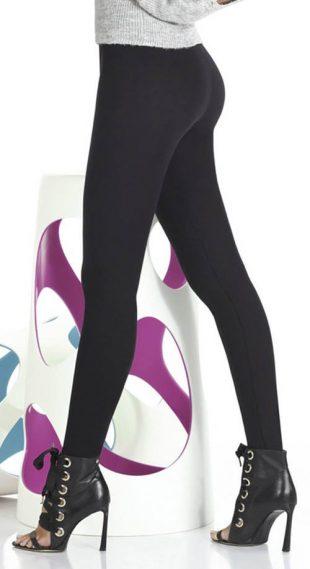 Női fekete egyszínű leggings Push-Up hatással