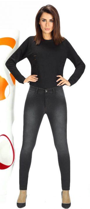 Fekete farmer leggings fodros fazonú nadrágok